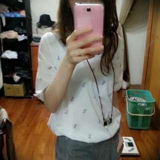 韓製小斑馬滿版T shirt