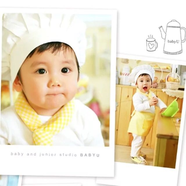 寶寶拍照造型廚師服