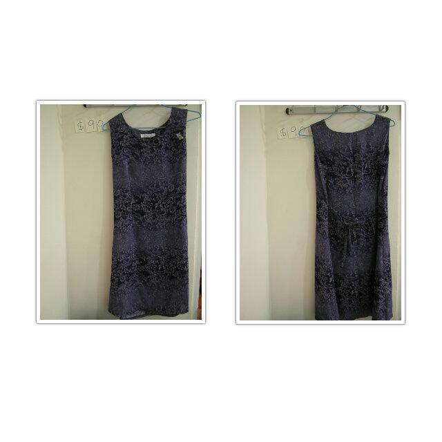➤編號10 ∥  復古深紫唯美洋裝