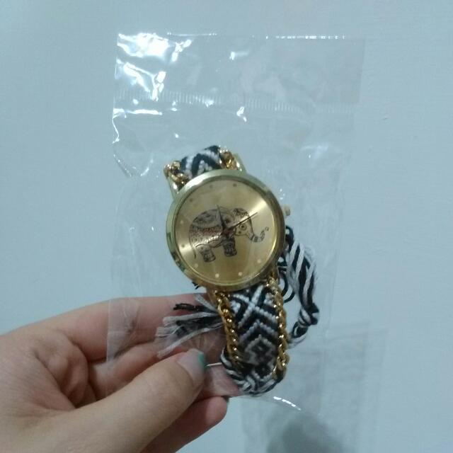泰國風大象工藝針織手錶