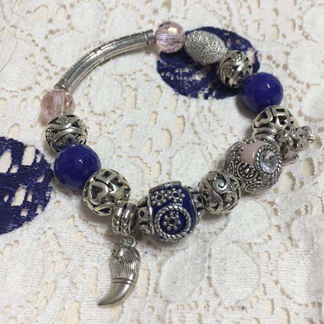 異國風珠珠手鍊🎊希臘藍&雅典白