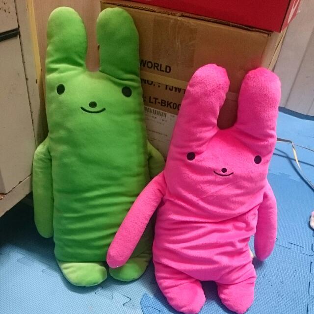 綠色 / 粉色綿綿兔