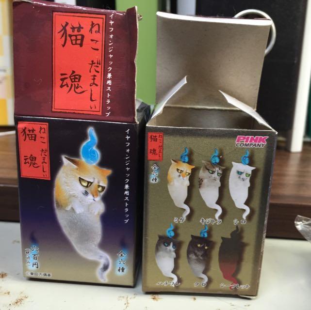 /全新/貓魂 手機吊飾 日本購入