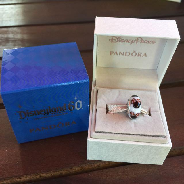 美國帶回 北美迪士尼限定 PANDORA吊飾-白琉璃米妮