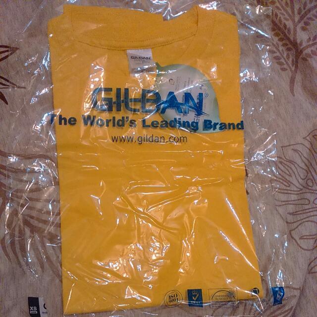 GILDAN黃色圓領素T