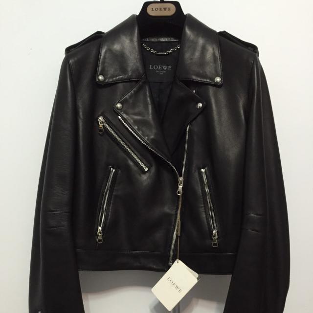 Loewe 羅威 黑色 皮衣 2015秋冬 正品 羊皮 西班牙 精品 時尚 頂級 皮革 騎士 外套 情人節 首選 歐美