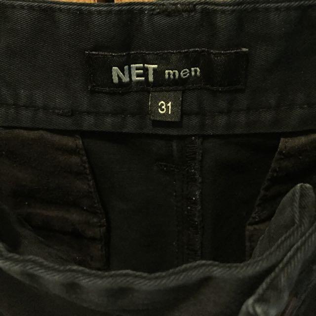 NET 黑色短褲 二手 有退色 只要100