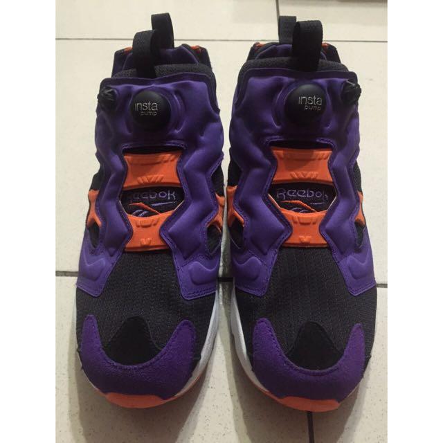 Reebok Pump Fury Us9.5紫 橙