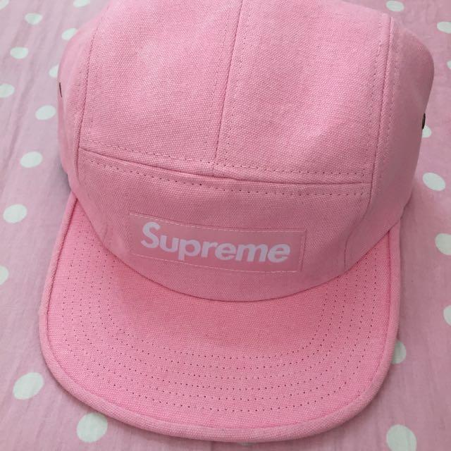 454ad637bbc ... supreme camp cap 五分割帽粉紅👒👒