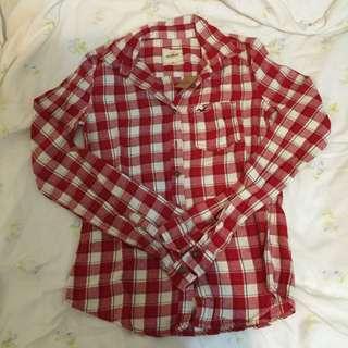 Hollister 女生格紋襯衫