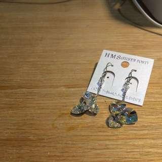 全新 正韓耳環 超美閃亮愛心造型 針式
