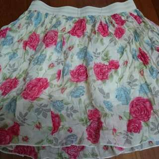玫瑰花短裙