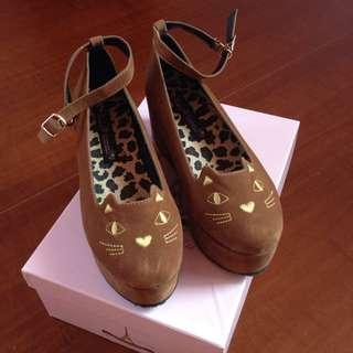 grace gift貓咪厚底鞋