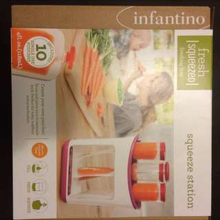 Brand New infantino Baby Food squeezing Station