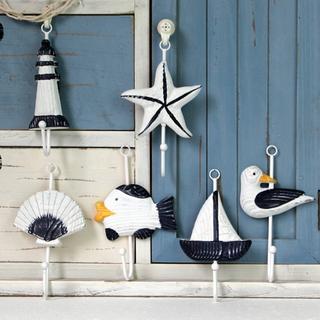 地中海海洋掛鉤六款 木制衣帽掛鉤 家居裝飾工藝品