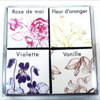 法國帶回 Fragonard 固體香水組 一組4個 花宮娜 香膏 網拍最低價!
