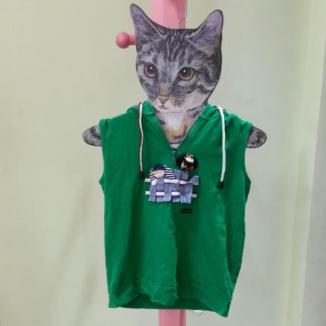 深綠色可愛娃娃+狗狗背心