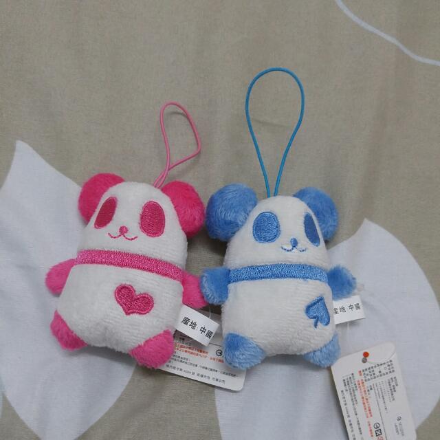 贈品 可愛熊貓吊飾