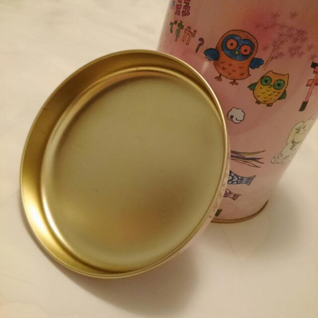 💫二手💫   Miller Popcorn 米樂爆米花 粉紅色日系精美收納鐵桶