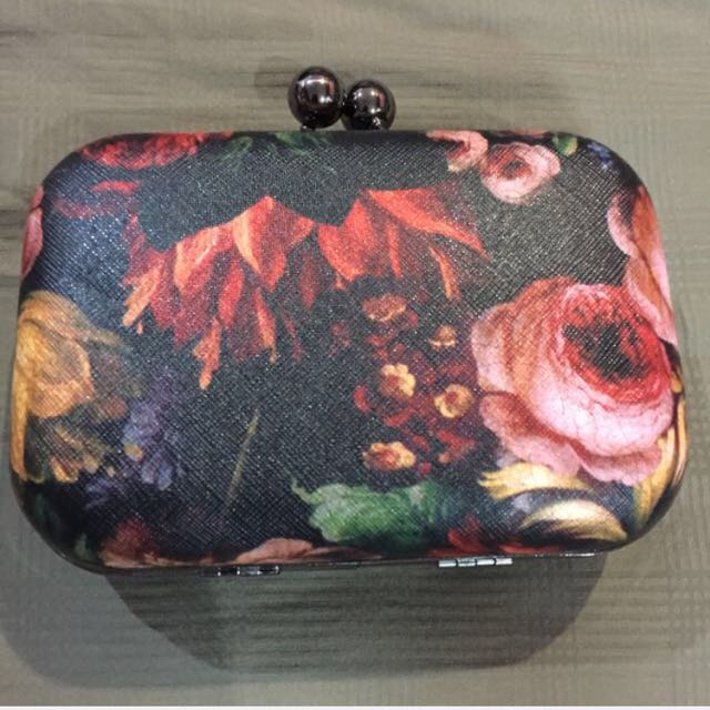 Flowery Box Clutch ( Incl Postage)