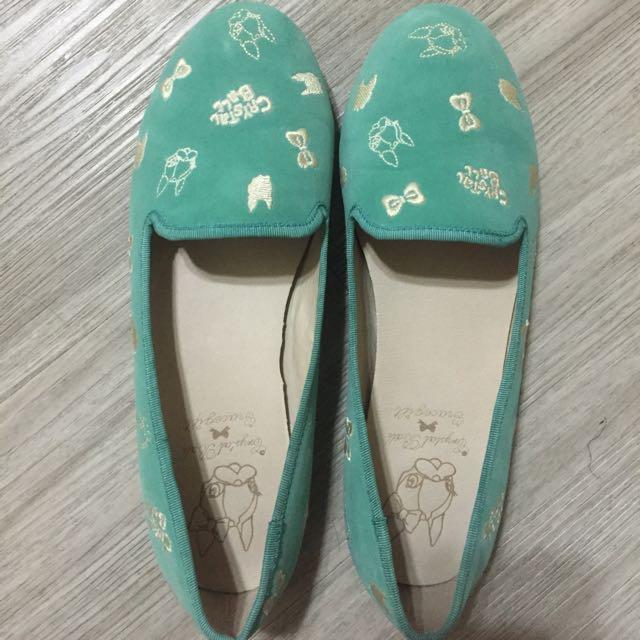 Grace Gift狗頭聯名款福樂鞋(綠)