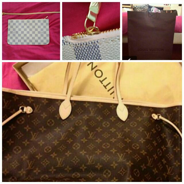 Louis Vuitton Mm & Pouchn