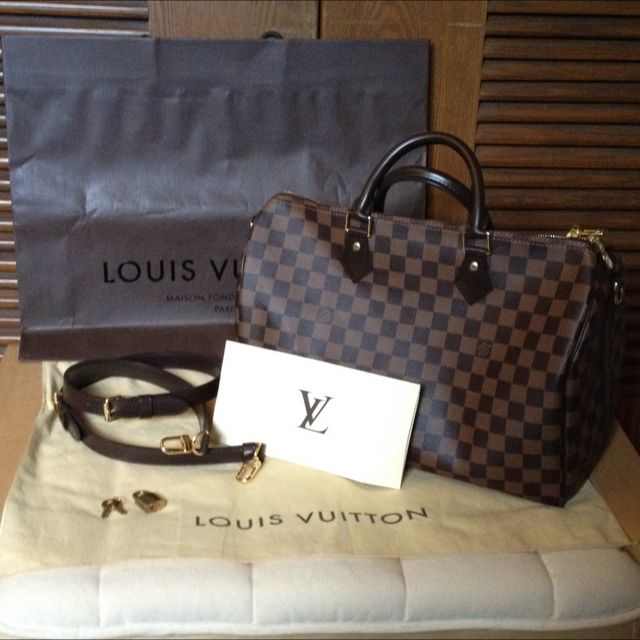 8946469fb61f Louis Vuitton Speedy 35 Bandouliere In Damier Ebene