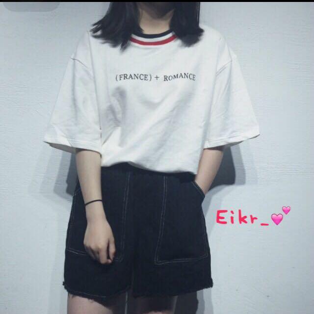 正韓🇰🇷五分袖白色T恤上衣