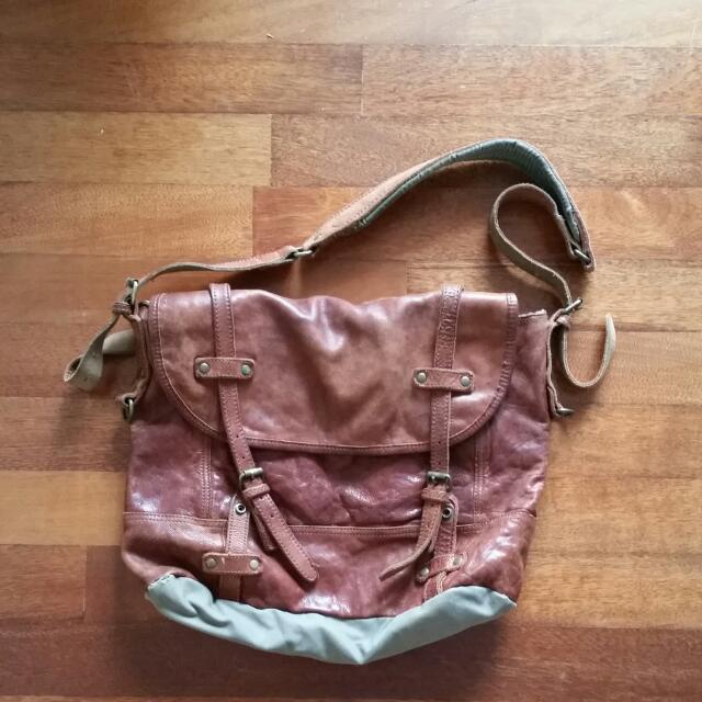 TOUGH Jeansmith Leather Bag, Luxury on Carousell 240291cf88