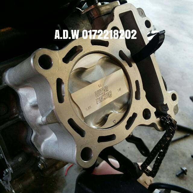 Uma Racing LC135 Block 62mm For LC135 or FZ150 Block Uma Racing 65mm Forget  Piston With Superhead Rm720