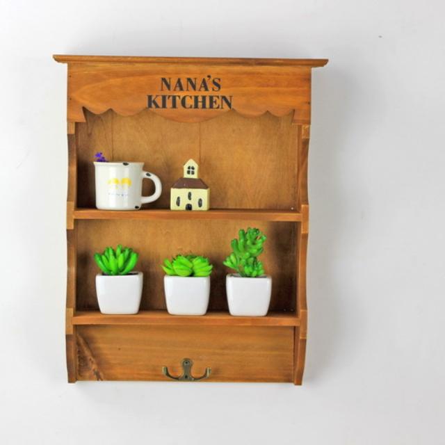 ZAKKA雜貨 墻掛壁掛多層置物架 做舊木質雜物架收納整理櫃