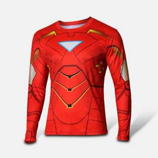 Ironman Ready Stock Compression Dry-fit Marvel DC Superheroes