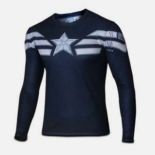 -OOStock- Captain America Compression Dry-fit Marvel DC Superheroes