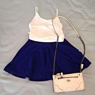 寶藍色短裙