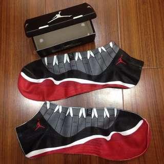 Jordan 11 Bred 踝襪