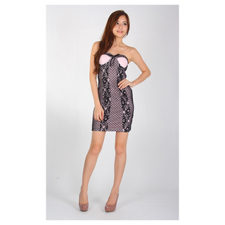 AE Agneselle Lipsy Hearts Tube Dress in Pink