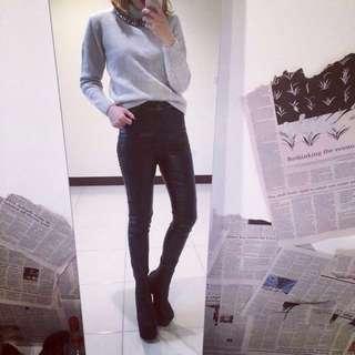 歐美 超貼腿 超顯瘦 皮褲