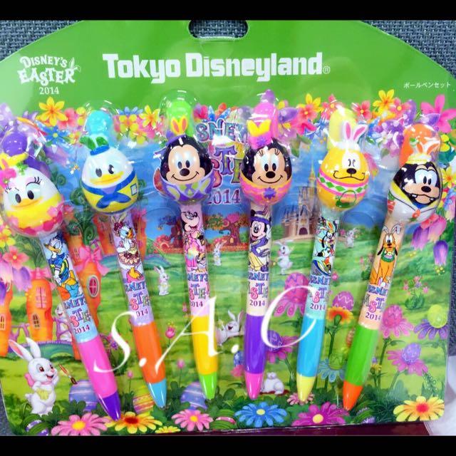 東京迪士尼2014復活節限定 原子筆 分售