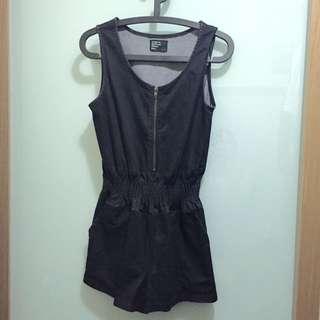 (二手)正韓厚磅深藍黑牛仔連身裙[8成新]