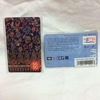 SG50 Limited Ed SIA Batik ez-link/Nets Flashpay Card (Singapore Airlines)
