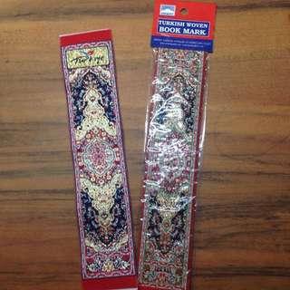 Turkish Woven Bookmark Turkiye Red Beautiful