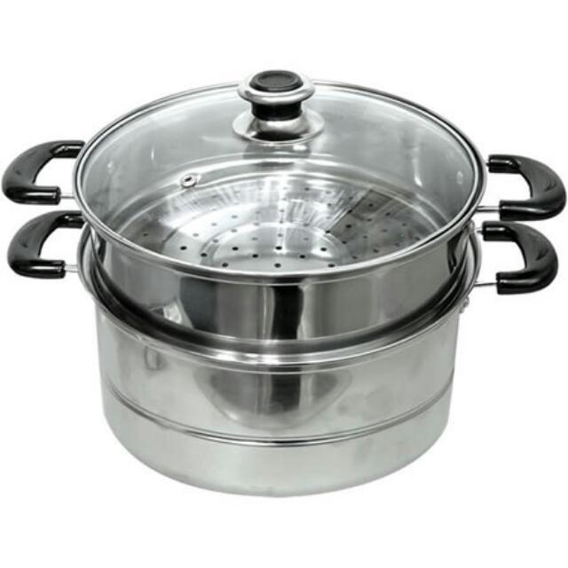 不鏽鋼蒸鍋25CM(附網)全新