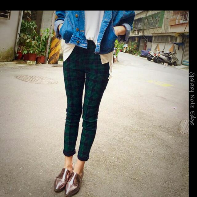 顯瘦格子褲