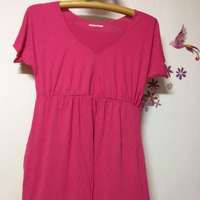 桃粉紅洋裝/短裙/喜宴裝(附腰緞帶)