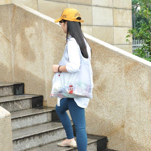 美國品牌訂製 可折疊印花手提袋 環保袋 購物袋
