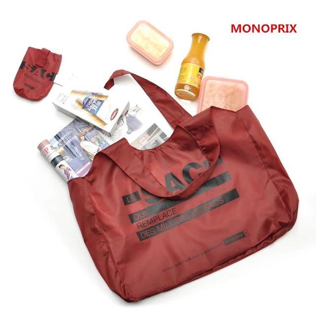 用搶的吧 法國訂單 輕便可折疊 大容量單件購物袋 環保袋