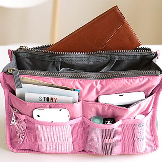(含運) [全新] 韓版 手提式 雙拉鍊 加厚 收納包 多用包 包中包 媽媽包