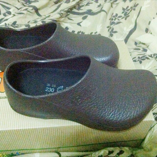 Birkenstock 咖啡色23號 全新 廚師鞋 園丁鞋 工作鞋