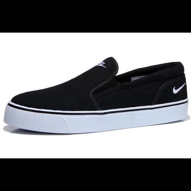 Nike Toki Slip TXT Print 懶人鞋帆布 黑色 男鞋