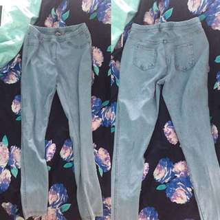 Zara彈性顯瘦牛仔褲💗👖適合各種身形!